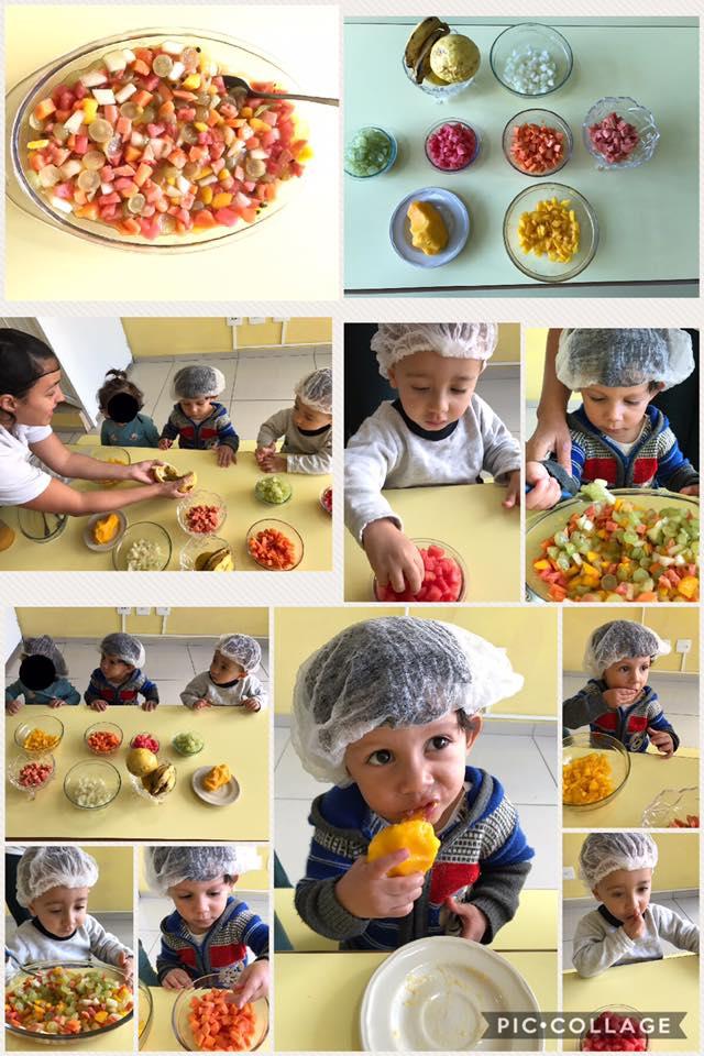 Culinária, com os alunos da sala do Mini Maternal!!!